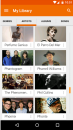 Artists selection menu on the Android Version of Google Play Music