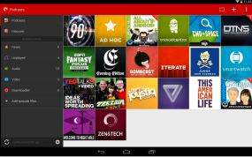 Tablet mode main interface