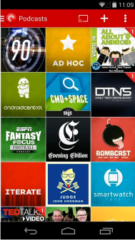 All the suscribed to podcasts