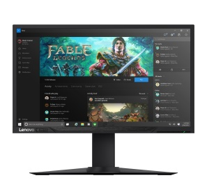 Lenovo Y27g RE Curved Gaming Monitor (front with wallpaper)