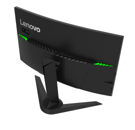 Lenovo Y27g RE Curved Gaming Monitor (rear-powered on)