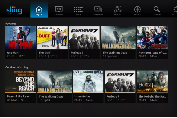Sling TV's new UI
