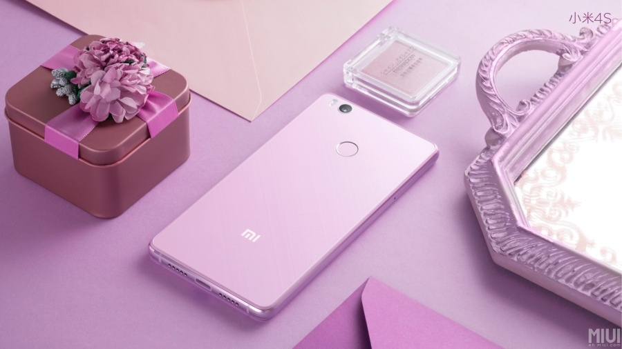 Xiaomi Mi 4S in pink