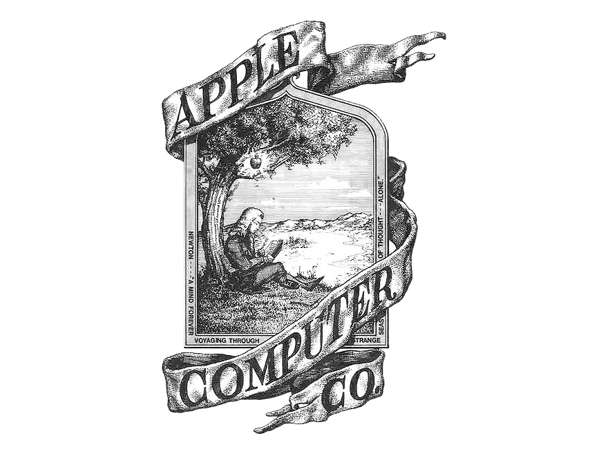 The original Apple logo from 1976.