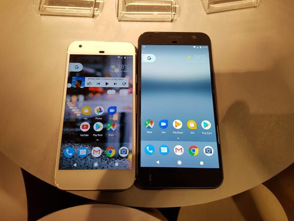 Pixel (left) and Pixel XL (right)