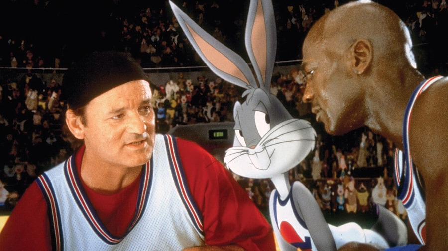 Space Jam (1996) Directed by Joe Pytka Shown from left: Bill Murray, Bugs Bunny (voice: Billy West), Michael Jordan