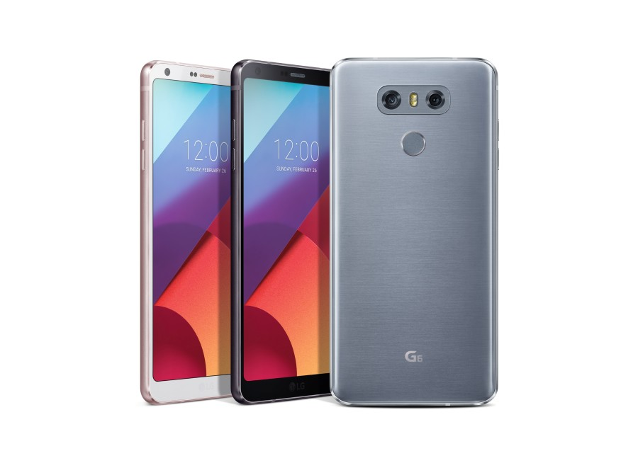 The LG G6 Colour options