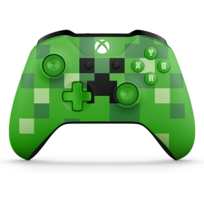 Xbox Minecraft Creeper Controller Front