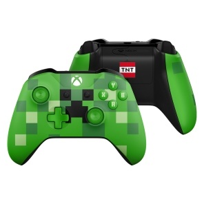 Xbox Minecraft Creeper Controller Front Back
