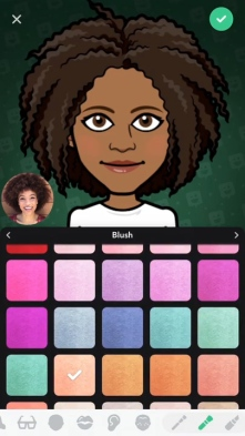 Bitmoji Deluxe Feminine Make Up EN