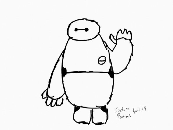 iPad_2018_review_Baymax_sketch
