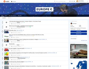 What a subreddit looks like after the redesign