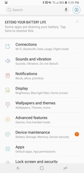 Samsung_GalaxyS9+_Review_Screenshot_Settings