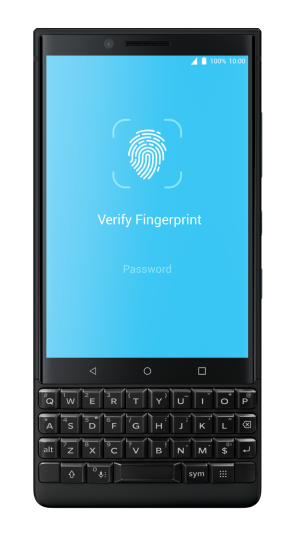 BlackBerry KEY2 Locker Fingerprint Authentication