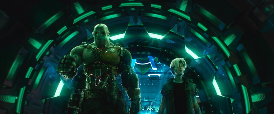 """Warner Bros. Pictures,' Amblin Entertainment's and Village Roadshow Pictures' action adventure """"READY PLAYER ONE,"""" a Warner Bros. Pictures release. Courtesy of Warner Bros. Pictures"""