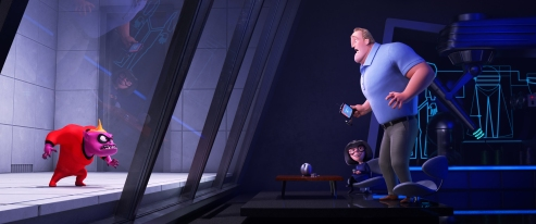 "MAD ABOUT E – When Jack-Jack's many powers are revealed to his family—finally—in ""Incredibles 2,"" Bob finds himself turning to Edna for help. Featuring the voices of Brad Bird as Edna ""E"" Mode and Craig T. Nelson as Bob, ""Incredibles 2"" opens in U.S. theaters on June 15, 2018. ©2018 Disney•Pixar. All Rights Reserved."