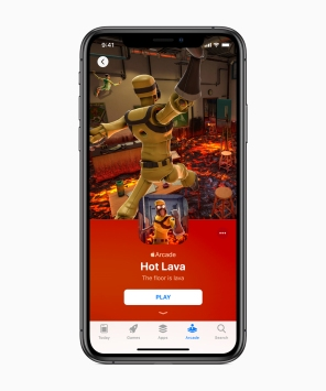 Apple-introduces-apple-arcade-hot-lava-iphone-xs-03252019