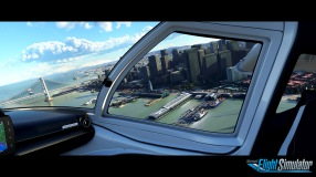 Microsoft Flight Simulator Pier Screenshot with logo