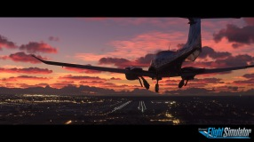 Microsoft Flight Simulator Sunset Screenshot with logo