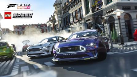 Forza Horizon 4 LEGO Speed Champions Mustang City Screenshot