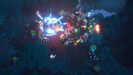 Minecraft Dungeson Screenshot Nighttime Battle