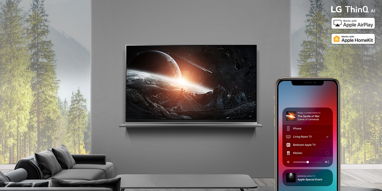 Apple AirPlay 2 and HomeKit rolling out to LG's 2019 TVs