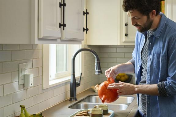 Amazon Echo Flex in kitchen