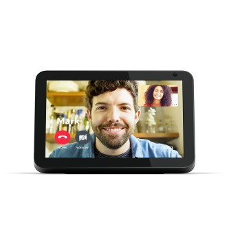 Echo Show 8, black forward-facing