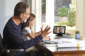 Echo Show 8 with family call