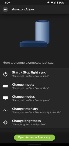 Philips Hue Play HDMI Sync Box Alexa