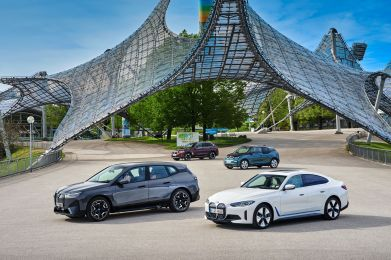 The BMW i models (Clockwise from top): iX3, i3, i4 and iX