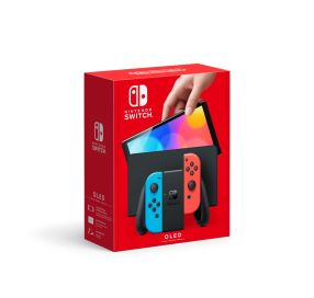Nintendo Switch (OLED model) - Neon Red/Neon Blue
